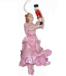 Clara in pink dress christmas ornament christmas ball ornaments