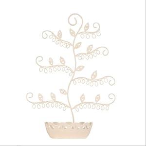 Cream Earring Jewellery Holder/Stand/Tree/Display