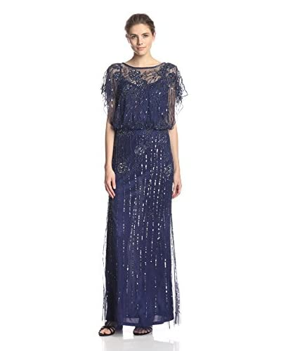 JS Collections Women's All Over Beaded Blouson Gown