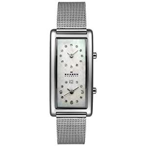 Skagen Women's 20SSSMP Steel Collection Dual Time Zone Stainless Steel Watch