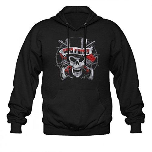 Guns N'Roses-Felpa con cappuccio, motivo: NYC nero Large