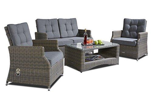 Hochwertige-Polyrattan-Sitzgruppe-4-tlg-inkl-Kissen-Gestell-aus-Alu-Rattan-Luxus-Gartenset-Gartenmbel-Loungeset-Sitzgruppe-Loungembel-Sitzgruppe-Gartenset-Sitzgarnitur-Sofalounge-Garnitur-Grau