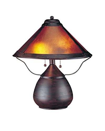 Bristol Park Lighting 2-Light Table Lamp With Mica Shade, Rust