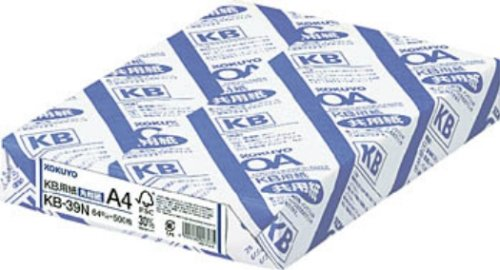 KOKUYO KB用紙(共用紙)(FSC認証)(64g) A4 500枚 KB-39N