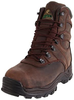 Rocky Mens Sport Utility Pro Hunting Brown Leather Boot 14 M US