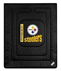 "Pittsburgh Steelers Locker Room Full/Queen Bed Comforter (86""x86"") NFL"