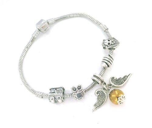 Hogwarts Inspired Golden Snitch bracelet - Gift Boxed - Medium 18cm