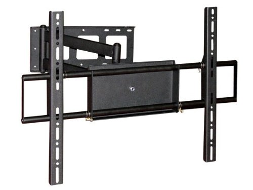 Monoprice Adjustable Tilting/Swiveling Wall Mount Bracket For Lcd Led Plasma Corner Friendly (Max 110Lbs, 32~50Inch) - Black front-1018218