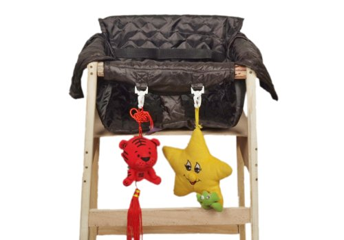 Baby Trooper Portable Restaurant Highchair Cover (Black)