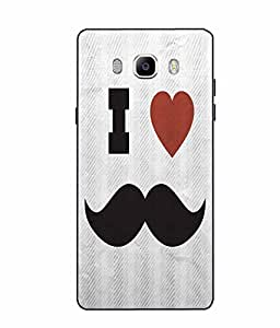 Case Cover Mustache Printed Grey Soft Back Cover For SAMSUNG Galaxy On8