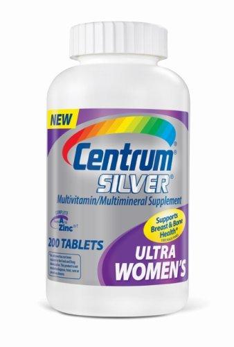 Centrum Ultra Silver, For Women 50+, 200-Count Bottle