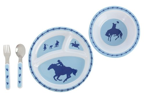 Cowboy 4 Piece Dinner Set for Kids