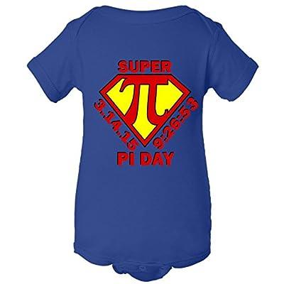 Super Hero Pi Day 3.14.15 One Piece Baby Bodysuit