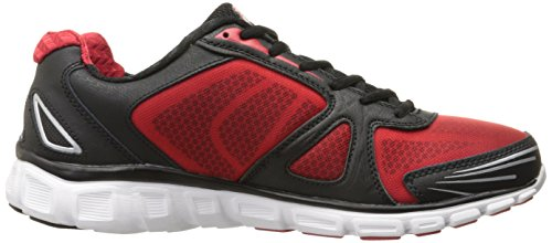 Fila Men's Memory Solidarity-M Running Shoe, Black/Fila Red/Metallic Silver, 13 M US