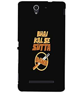 SONY XPERIA C3 SUTTA BAND Back Cover by PRINTSWAG