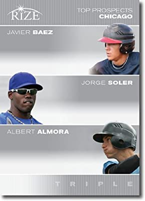 2012 RIZE Top Prospects Triple Paragon Card #JB-JS-AA Javier Baez / Jorge Soler / Albert Almora - Chicago Cubs (Rookie / Prospect Insert) MLB Baseball Trading Cards