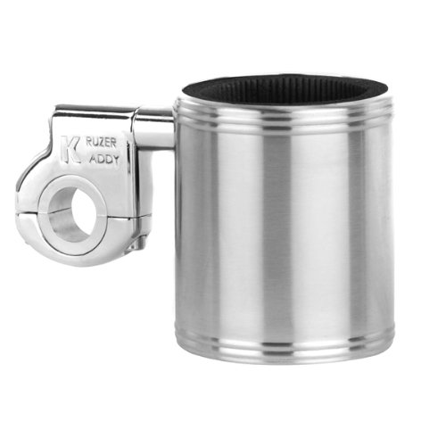 Motorcycle Cup Holder - Kruzer Kaddy Stainless Steel Cup Holder