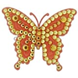 Tarina Tarantino Fashion Couture Iconic Collection Swarovski Crystal Lucite Butterfly Hairclip Orange Delight #Hc02 S9 200