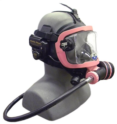 OTS Guardian Full Face Mask with Buddy Phone (Black Skirt/Pink Hardware) (Full Face Scuba Mask compare prices)