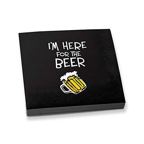 Epic Products I'm Here for the Beer Beverage Napkins (Set of 20), Multicolor (Beer Party compare prices)