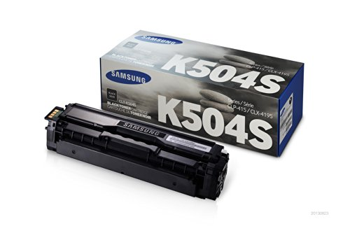 Samsung Electronics CLT-K504S Toner for CLP-415NW, CLX-4195FW, SL-C1810W, SL-C1860FW, Black (Samsung Toner Cartridges compare prices)