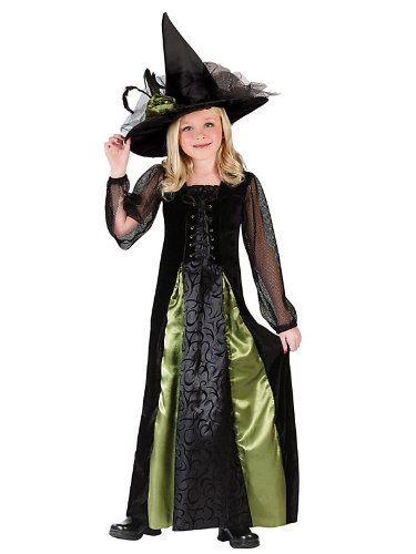 Witch Goth Maiden Child Small Costume