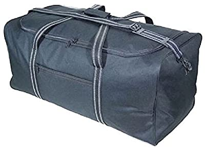 "Large 30""/75cm 100 Litres Lightweight Black Sports Holdall Travel Storage Cargo Overnight Padlockable Bag"