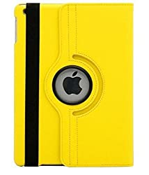 """TGKâ""""¢ 360 Degree Rotating Leather Smart Case Cover Stand For iPad 4, iPad 3, iPad 2 - YELLOW"""