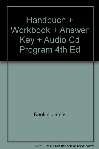 Handbuch Plus Workbook Plus Answer Key Plus Audio Cd Program 4th Edition