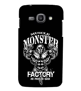 EPICCASE Muscle monster factory Mobile Back Case Cover For Samsung Galaxy Ace 3 (Designer Case)