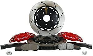 RacingBrake 2032-381-411-RD Open Slotted Finish Front Big Brake Kit with Red Calipers for BMW E36 M3