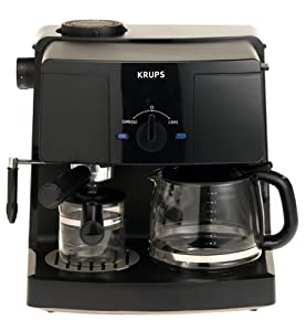 krups xp1500 coffee maker and espresso machine combination black kitchen dining. Black Bedroom Furniture Sets. Home Design Ideas