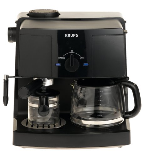 Great Features Of KRUPS XP1500 Coffee Maker and Espresso Machine Combination, Black