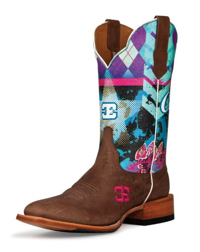 Cinch Women's Edge Sky Bar Cowgirl Boot Square Toe