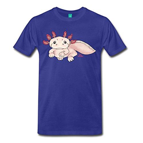 Spreadshirt Herren Axenia Axolotl T-Shirt, königsblau, 3XL