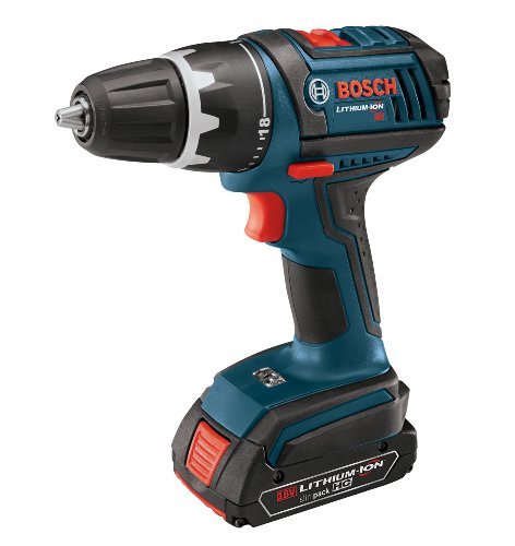 Bosch DDS181-02 18-Volt Lithium-Ion 1/2-Inch Compact Tough Drill/Driver Kit with 2 High Capacity Batteries, Charger and Case
