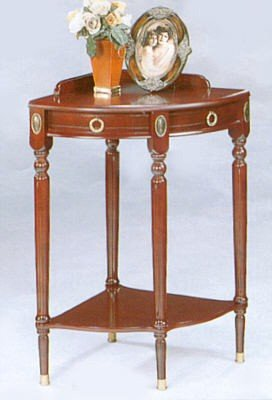 Buy Low Price Cherry Wood Finish Round Corner Side/End Table (VF_3051)