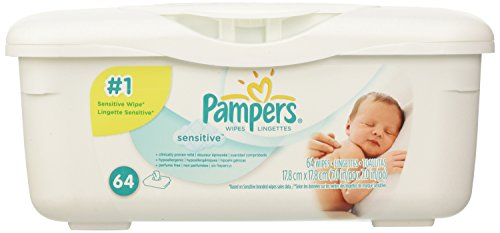 Pampers Sensitive Wipes - 64 Count Tub