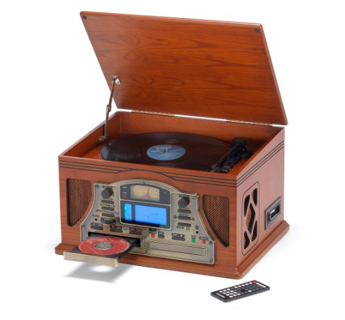 Steepletone Lancaster Nostalgia 5-in-1 Music System with CD Recording Function - Darkwood Black Friday & Cyber Monday 2014