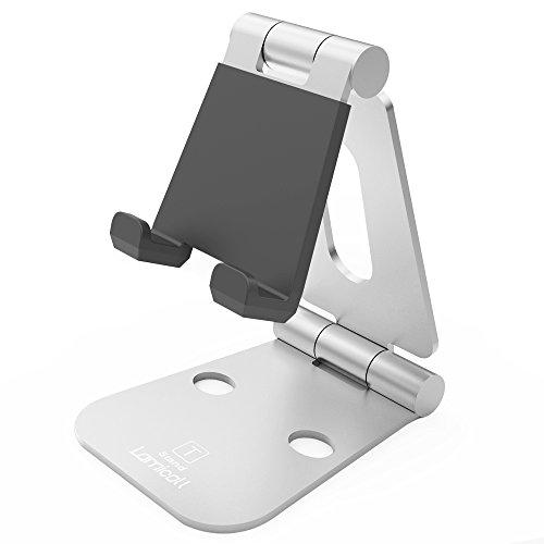 Lamicall Multi-Angolo Supporto Telefono : Universal Supporto smartphone,tablet, Dock, Culla, Supporto per HUAWEI iPhone 7 6 6s più 5 5s, Samsung S3 S4 S5 S6 S7 Accessori, scrivania, altri smartphone (argento)