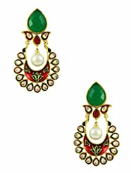 The Art Jewellery Brass Dangle & Drop Earring For Women (Multi-Colour) - B00O45JWBU