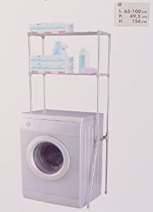 Mobile scaffale salvaspazio a 2 ripiani ideale da posizionare sopra la lavatrice l - Mobile sopra lavatrice ...