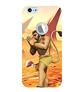 99Sublimation Lord Hanuman 3D Hard Polycarbonate Back Case Cover for Apple iPhone 6S