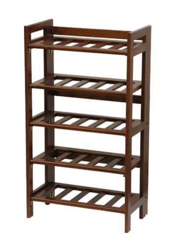 Winsome Wood Foldable Wine Rack, Walnut