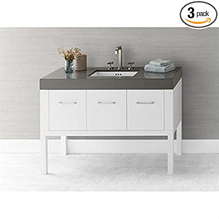 Ronbow 036848-W01_Kit_1 Calabria Bathroom Vanity Set with Stone Gray WideAppeal Countertop & White Ceramic Undermount Sink, 48""