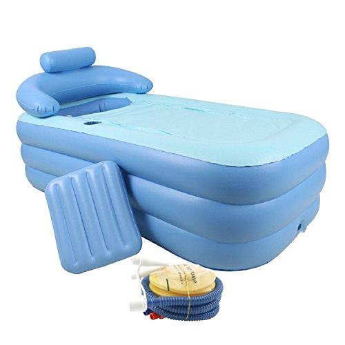 CO-Z Adult PVC Portable Folding Inflatable Bath Tub with Air Pump for Bathroom SPA (Baby Bath Air Tub compare prices)