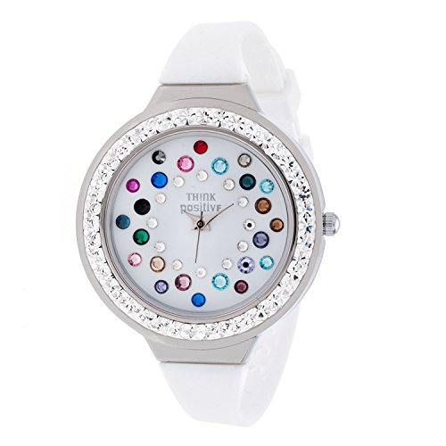 ladies-think-positiver-modell-se-w116a-star-dust-tunnel-medium-stahlband-silikon-farbe-mix-weiss