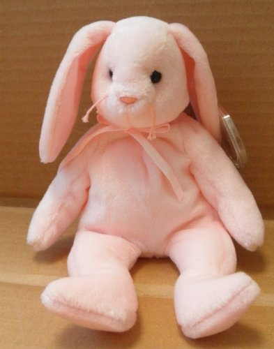 TY Beanie Babies Hoppity the Rabbit Stuffed Animal Plush Toy - 8 inches tall