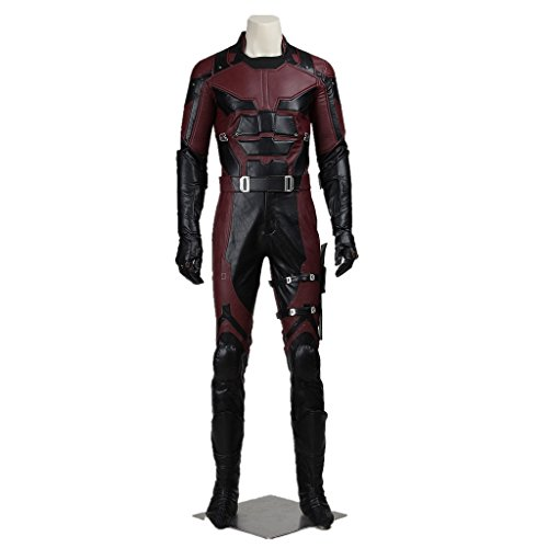 Cosplayfun New Daredevil Men Cosplay Costume Suit Full Set