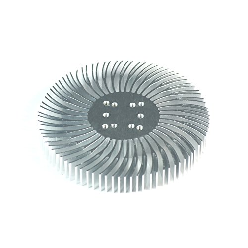 2Pcs 3.5X0.5Inch Round Spiral Aluminum Alloy Heat Sink For 1W-10W Led Silver White